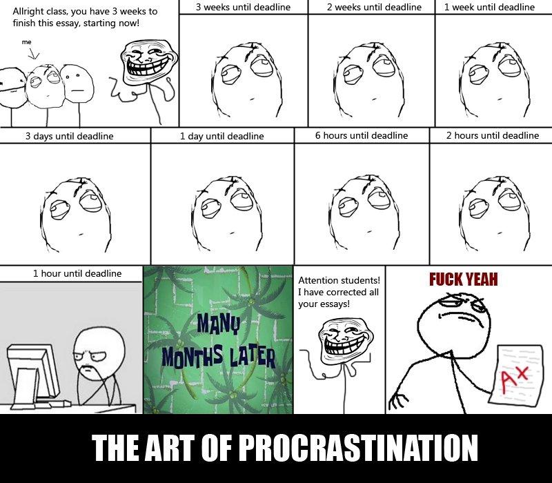 The art of procrastination essay