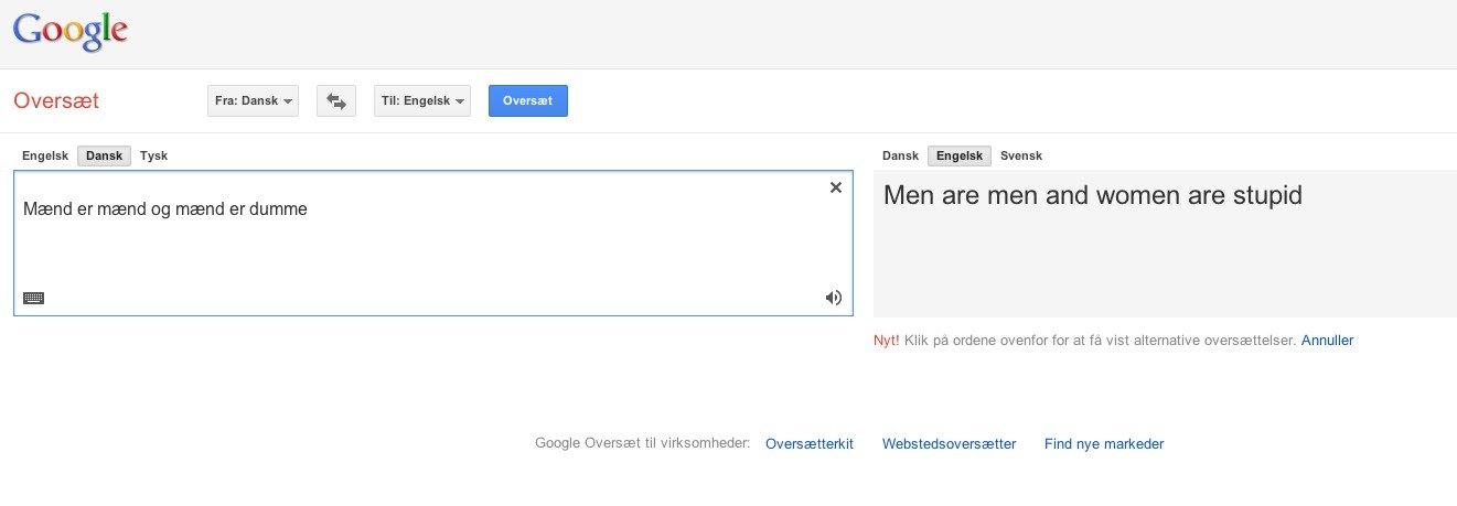 engelsk til dansk google oversæt