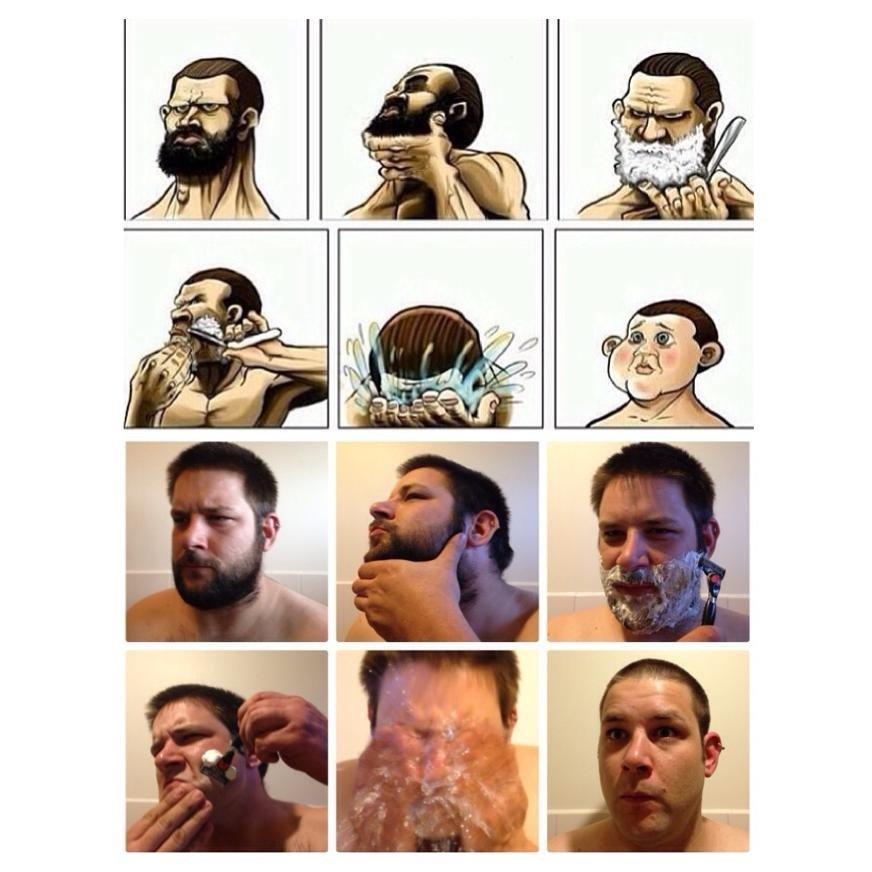 Funny beard shaving meme - photo#53