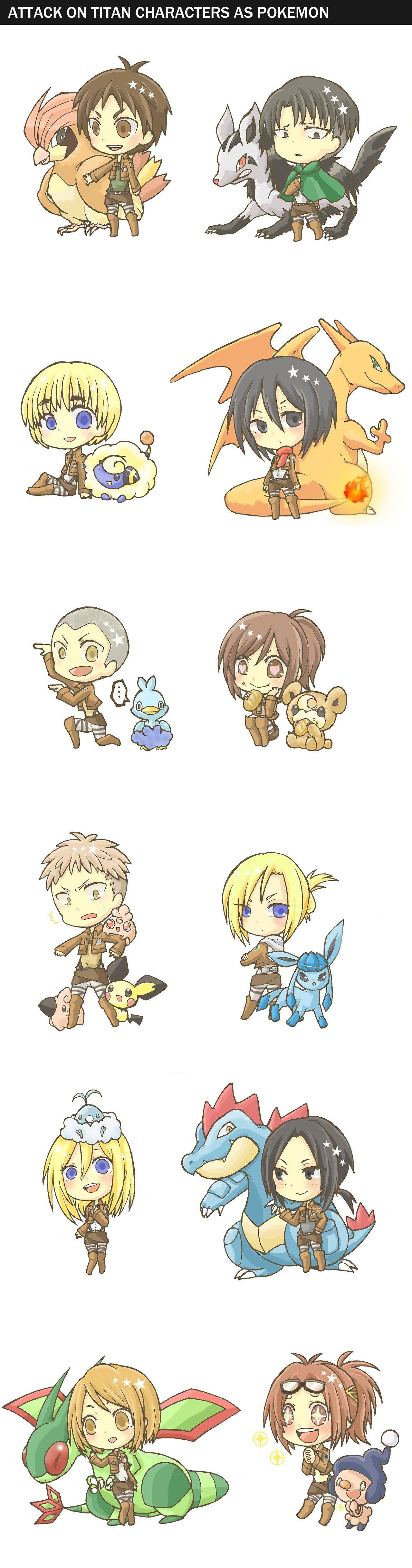 Attack On Titan Pokemon Doublade Attack on Titan x Poke...