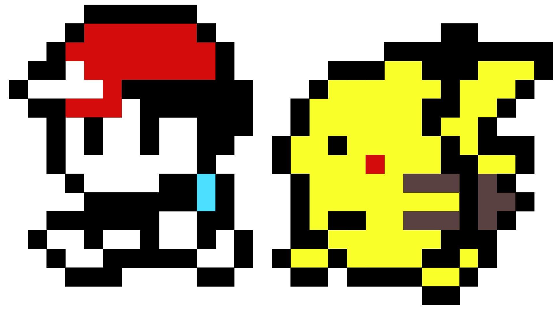 8 bit Pikachu and Ash  Funnyjunk