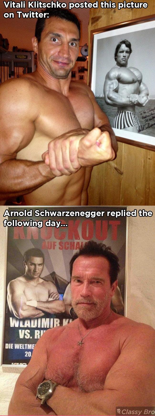 .... Hot Girls... www.classybro.com/category/girls. Vitali Klitschko posted this picture Arnold rero)