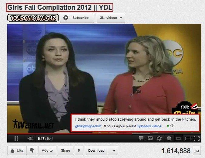 #1 Youtube Comment. 100% OC YDL Youtube: www.youtube.com/user/YourDailyLaughz.. 100% OC my ass.
