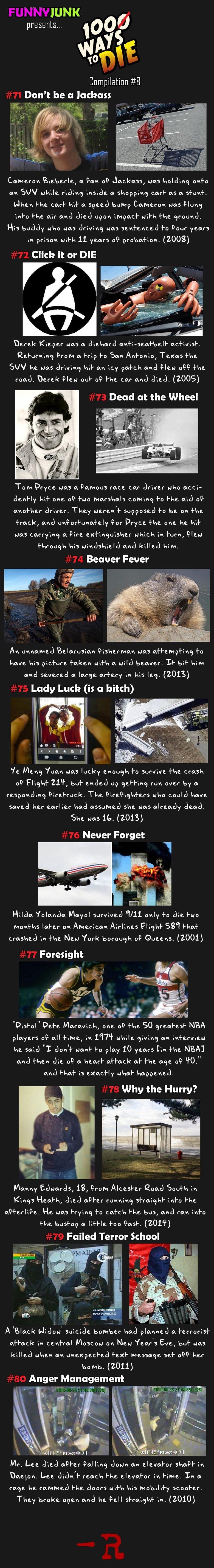 """100 Ways to Die #8. hahahahhaha-AHHAHAHAHAHA-ha! so much tragedy...... """"unexpected text message"""""""
