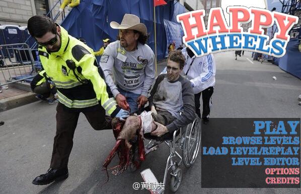 2 suun. . 1) r' Tothis Boston bombings happy wheels le epic OC