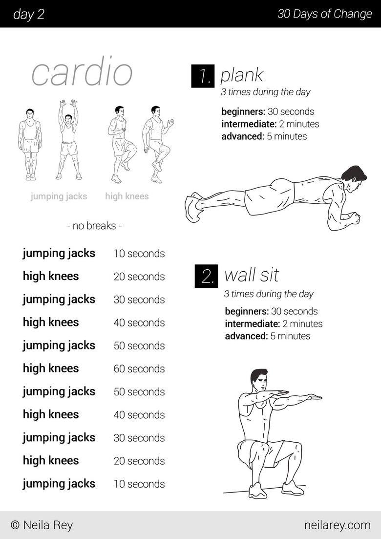 30 Day Calisthenics Cardio Exercise