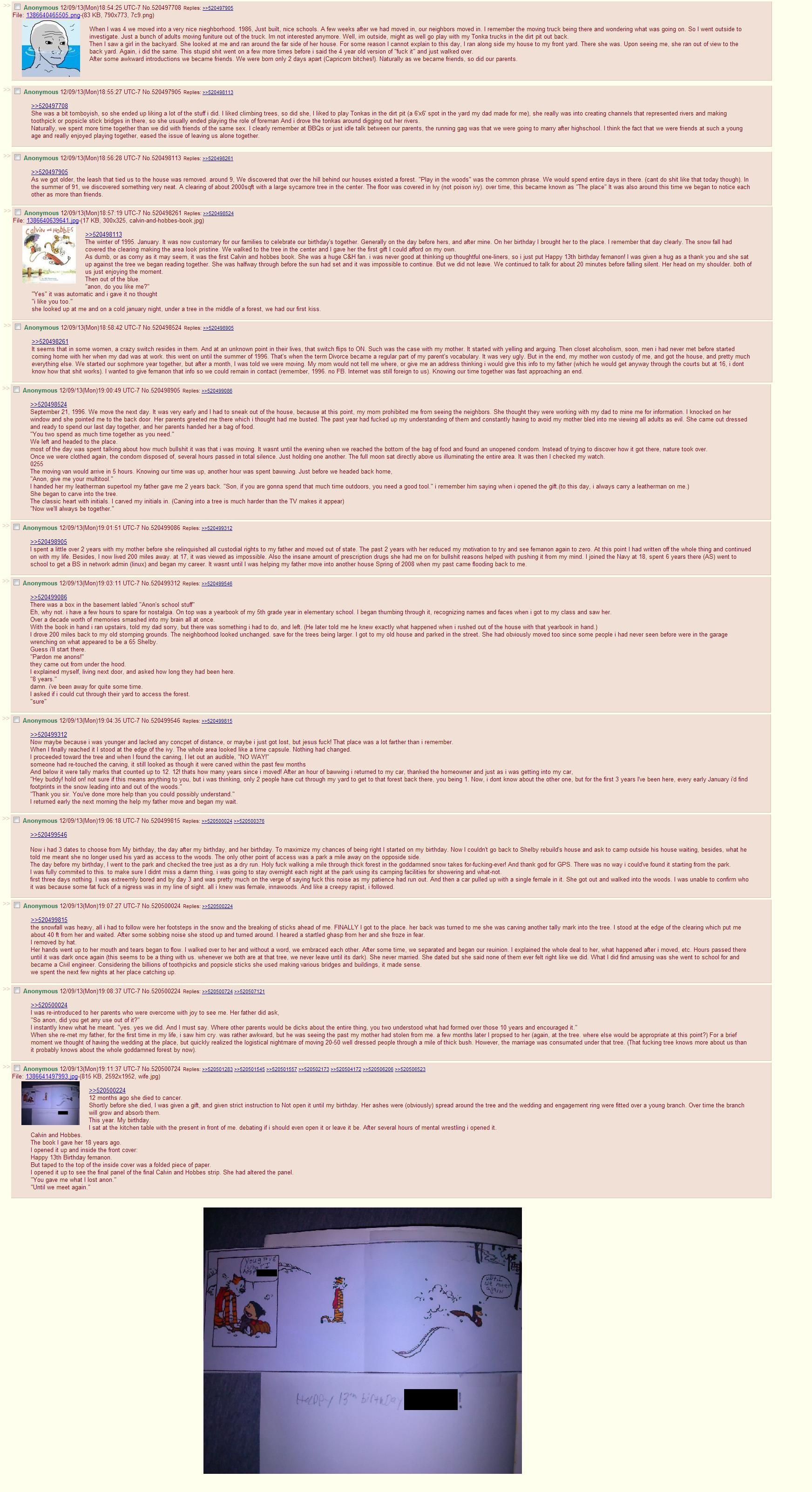 4chan feels (enlarge). .. Beautiful feels