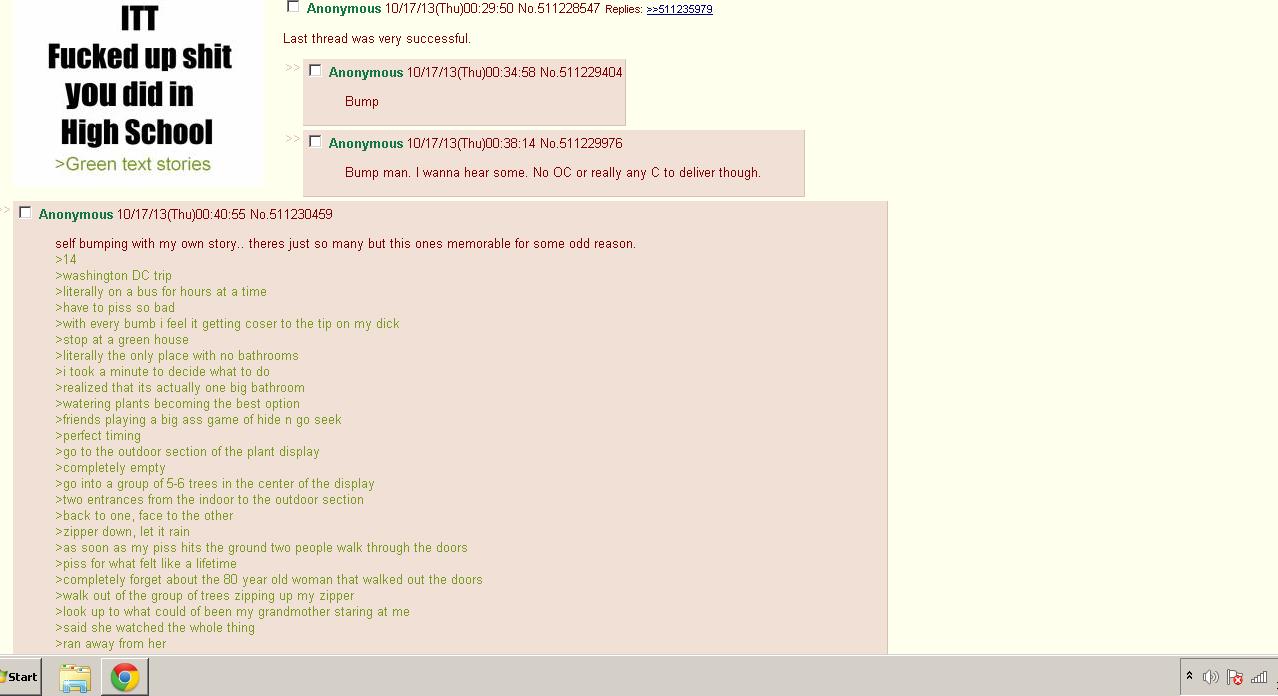 4chan. Found this on /b/. m I' Anonymous 10/ 17/ 13( Thu) . 29: 50 No. 511228547 Replies: :? s lat! rlly, I' / 17/ 13( Thu) . 34: 58 No. 511229404 let Bump tota