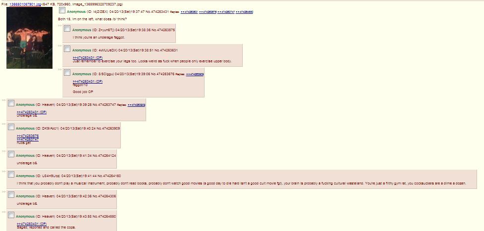 4chan judges gym junkies (enlarge). el oh el.. This comment is gay