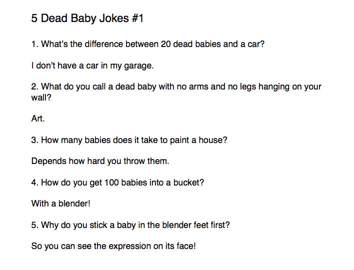 5 Dead Baby Jokes 1