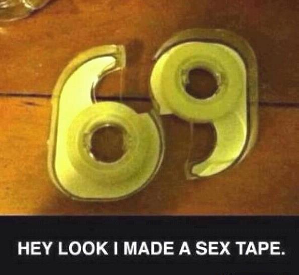69. .. must be pretty sticky...