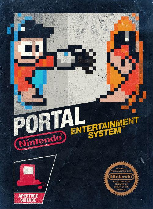 8 bit portal. from insanelygaming. Portal Nintendo