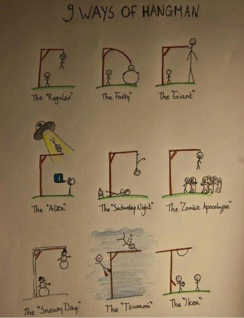 9 Ways of hangman. .. So cool!