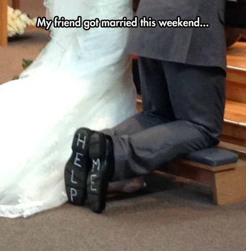 A Groom's Plea. . friend got married this weekend...