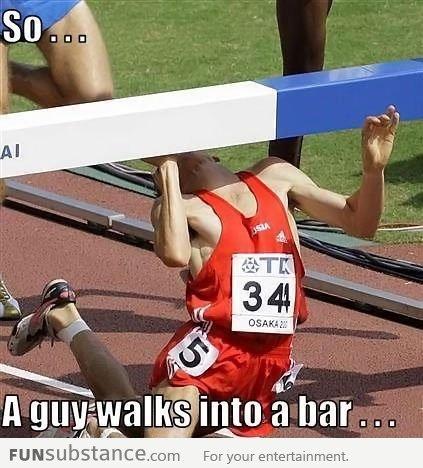 A guy walks into a bar. .. ouch