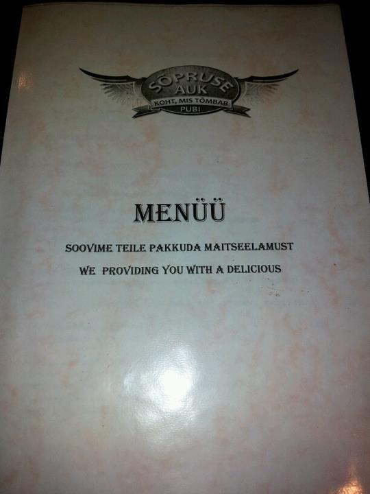 A pub in Estonia.. Translating fail... mfw i'm estonian