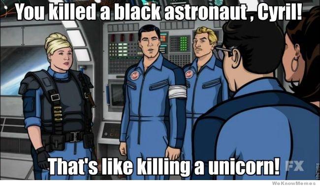 A unicorn. . tir, That' s like killing a mourn! .