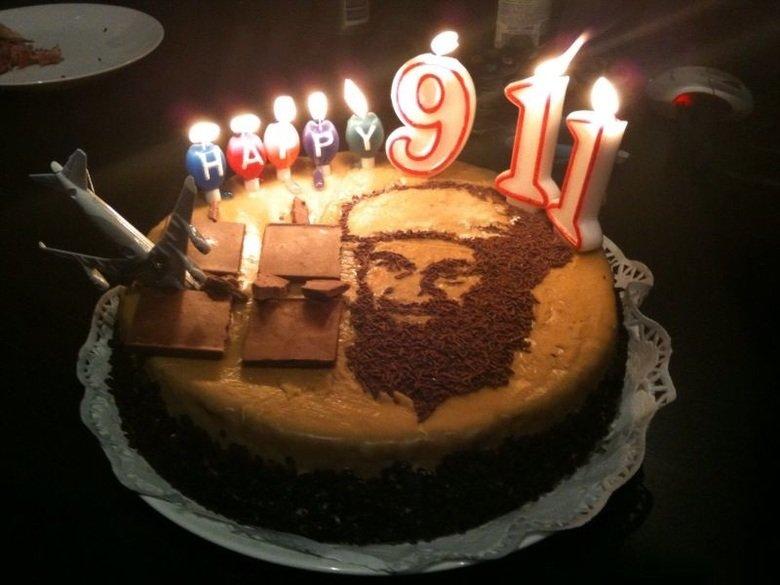 ALLAHU AKBAR. This isn't bad taste, right? I mean it IS chocolate cake... Aloha Akbar
