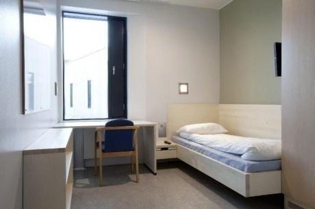 a prison in europe. .. a dorm room in america