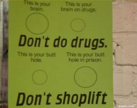 A good reason not to shoplift. . yo butt ,. repost
