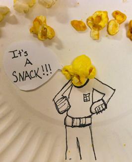 Ackbar. .. Trying to eat that popcorn
