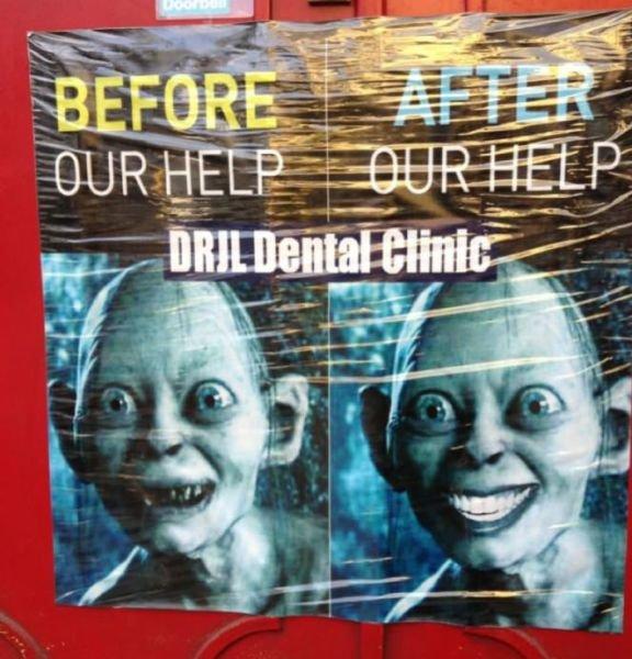 Ad. for a dentist. asdasdasdasdas