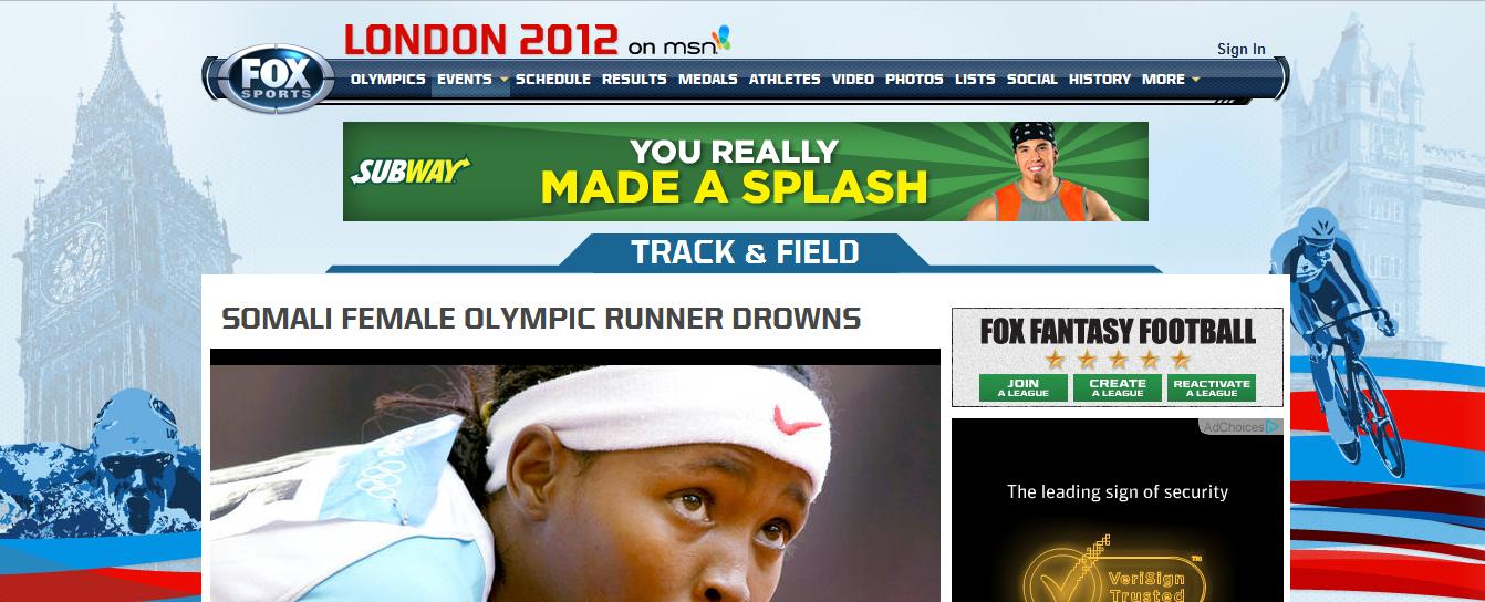 Ad placement strikes again. Athlete used splash.