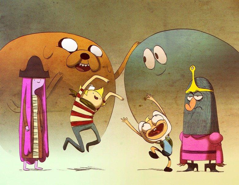 Adventureeee!. More alternative art here! --> alternateartlives.blogspot.com/.. i wish this crossover would happen adventuretime misdaventures of cartoonnetwork alternateartlive
