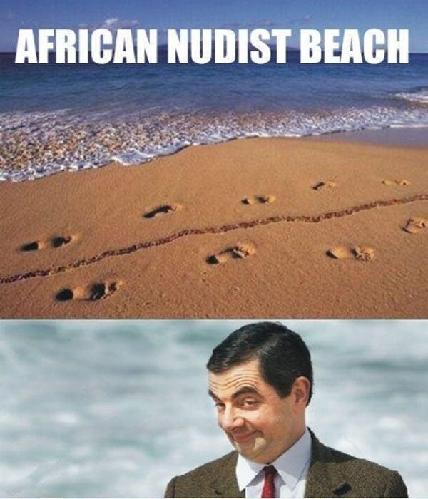 African Nudist Beach. Enjoy, or DIE. Arman NIHILIST men Mth f. Oh God, imagine sand getting stuck in your urethra. Big meaty cocks