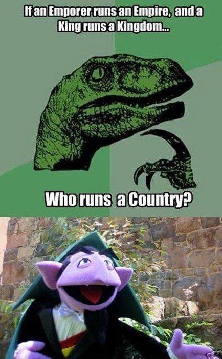 Ah Ah Ahhh!. . If an ' runs an [mum and a my runs i, Kingdom... who runs ?. cunt?
