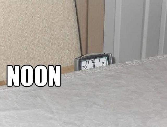 Alarm clock. is ready to strike.