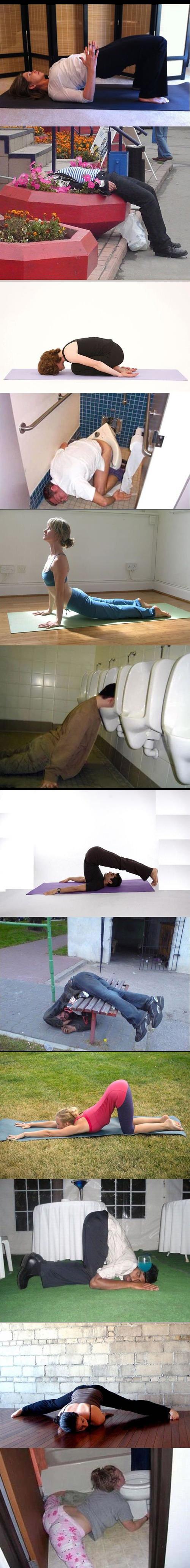Alcohol Yoga. .