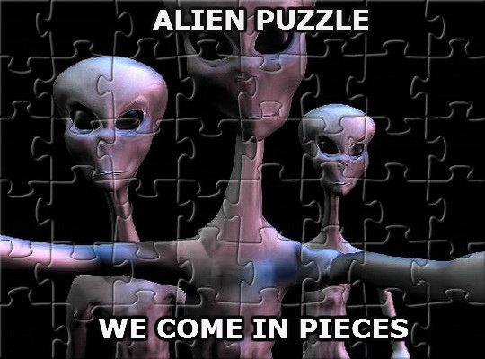 Aliens. Pun, pun, pun!.