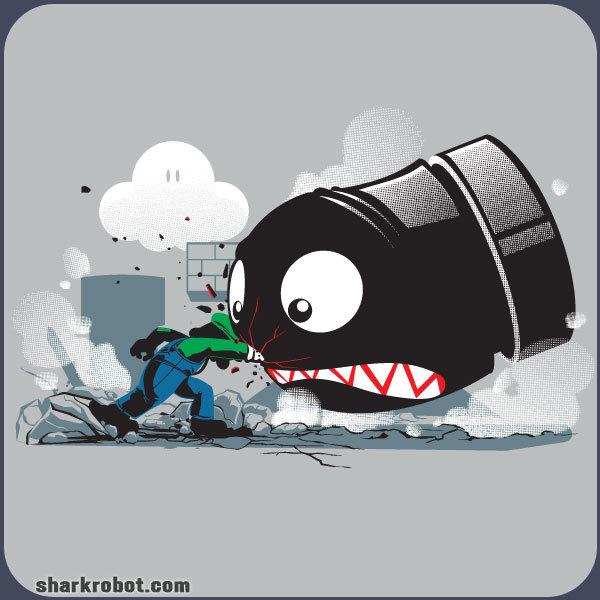Always Angry. sharkrobot.com/t-shirts-c-17. sharking: . ucnm. Badass luigi os badass