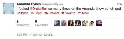 "Amanda Bynes. . r. f Amanda Eyre: rah T I so many times on the Amanda shuw set oh god lit Corinne _ Rattly "" tit ""I More 9 g H lite W ll? I. I think that says Arnanda Bynes, A r n a n d a"