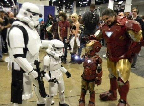 Amazing Parenting. .. Chubby Iron Man is best Iron Man.