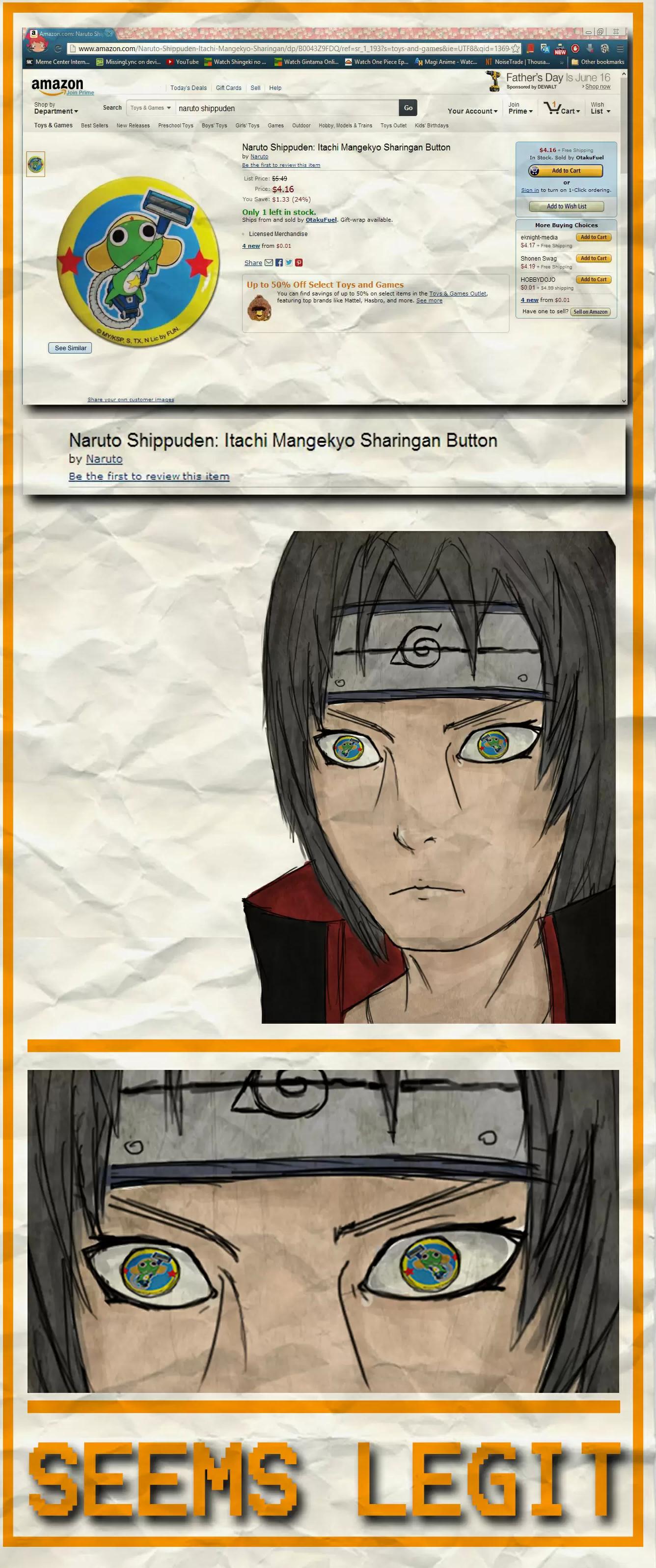 Amazon fail. taken from memecenter.. Sgt. Frog > Naruto Naruto Anime