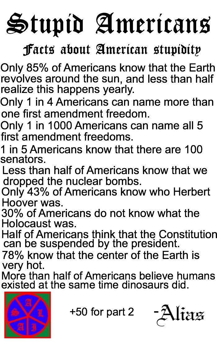America is Stupid