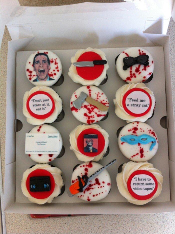 American Psycho Cupcakes. .. Do ya like huey lewis and the news?