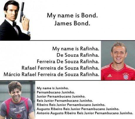 And your name is?. . My name is Bond. James Bond. My name is . De Sauna . De Sena . Rafael Ferreiro EDDIE . . Marcie Rafael Ferreiro tie Souza . My nama is . ma