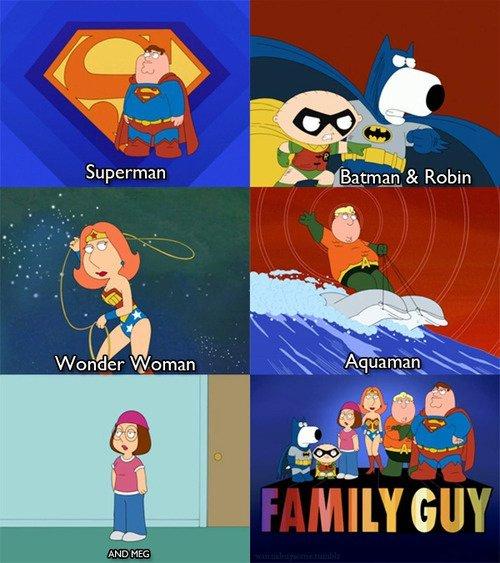"""and meg.. and meg.. found on """"gefällt mir hart"""". Superman. Wow! Just like on TV! family guy Meg"""