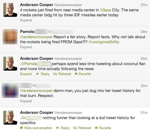 Anderson Cooper. Anderson Cooper: Burning Like a Boss!. Voldomort Cooper ( Mm qt 4 mks inst fired 'hem near media in . City. The same media center' tilde hit by