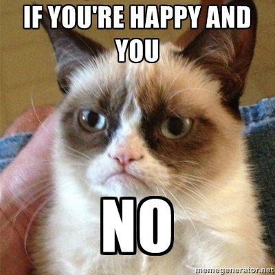Angry Cat. it clap your hands... clap..................clap?.. blue?