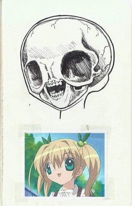 anime skull. .