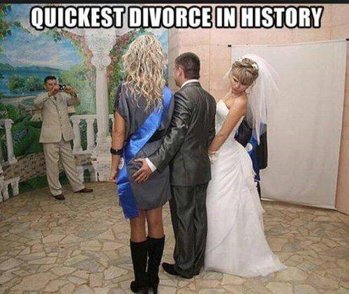 Annnnd...IT's OVER. .. Plot twist, it's a guy. divorce Wedding