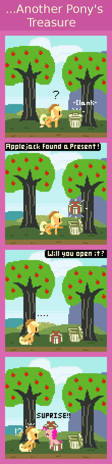 ...Another Pony's Treasure. via zztfox.deviantart.com/art/Another-Pony-s-Treasure-370735518?q=gallery%3Azztfox&qo=0 You found a Pinkie Pie inside! Will you keep