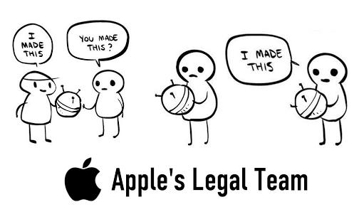 Apple's Team. Heh, it's true, I own a Mac. Captcha: 413+7 Not OC.. tit Apple' s Legal Team. was bothering me
