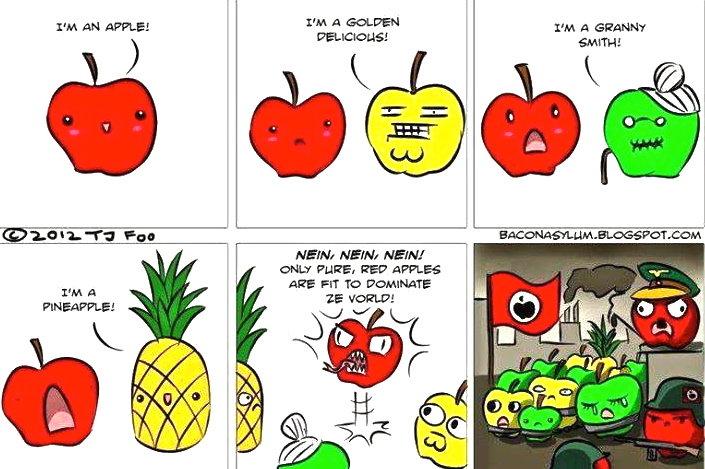 Apples. .