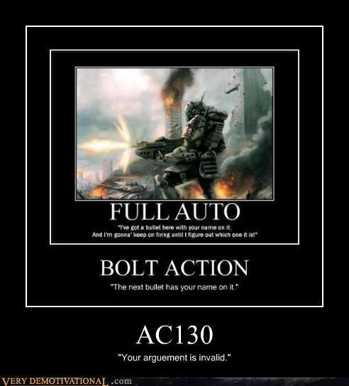 Argument Invalid. . FULL AUTO. BOLT ACTION