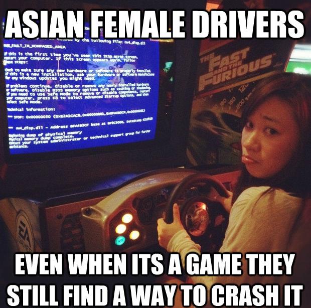 Asian Female Drivers. . VISITIN; GEMINI_. E an nu ucan 'alti' tat ctlu' ' at gill' FIB in i an ' I aah Hui inning: -u ; EVEN WHEN ITS BIGTIME THEY STILL mm A WA